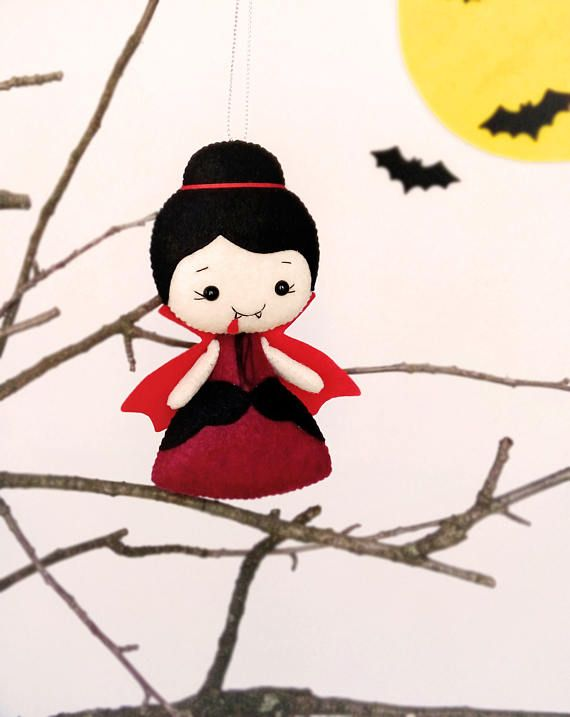 Halloween Decor Dracula Ornament Vampire Toy Felt Halloween