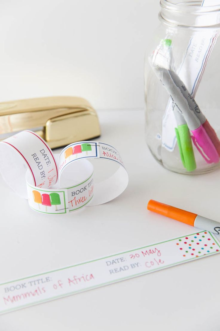 Printable Paper Chain Reading Log