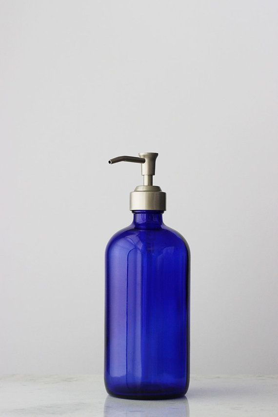 Blue Glass Market Soap Dispensers