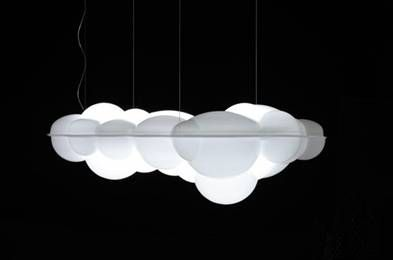NEMO – Nuvola pendant designed by Mario Bellini.  Pendant, ceiling/wall lamps in natural opal polyethylene. Full lighting for a widespread and comfortable output.
