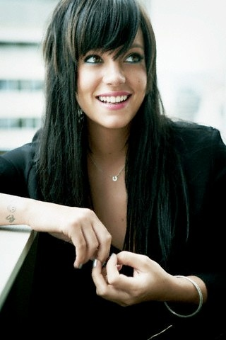 Lily Allen <3 her songs sound great and have really funny lyrics  love it