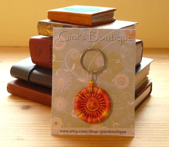 Dorset button key ring or bag and purse charm (Gini's Boutique)
