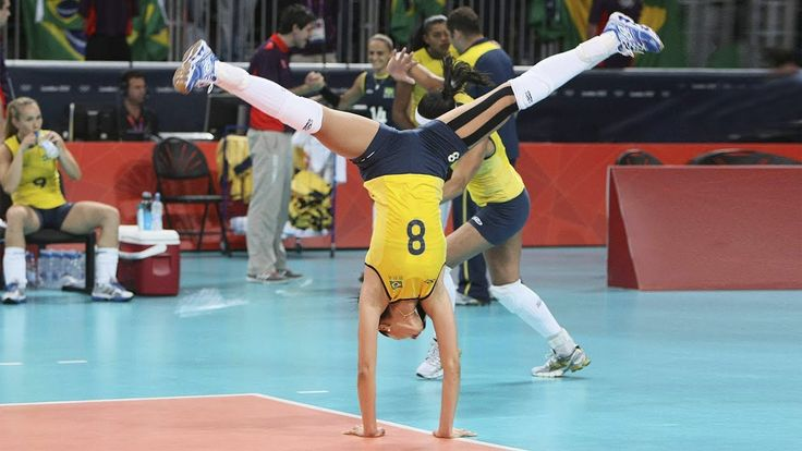 Top 10 Best Volleyball Spikes by Jaqueline Carvalho | Beautiful Brazilia...