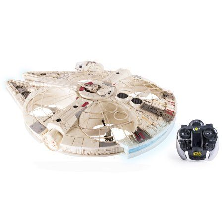 Star Wars Remote Control Millennium Falcon XL Flying Drone 2.4GHz 4-Channel LED Subspace Hyper Drive, And Authentic Lights And Sounds ** To view further for this item, visit the image link.