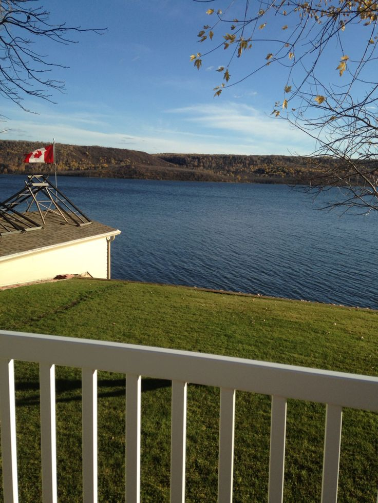 beautiful day on the deck of my grandparents' home in crooked lake, saskatchewan, canada.