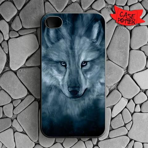 Wolf Painting iPhone 4 iPhone 4S Black Case