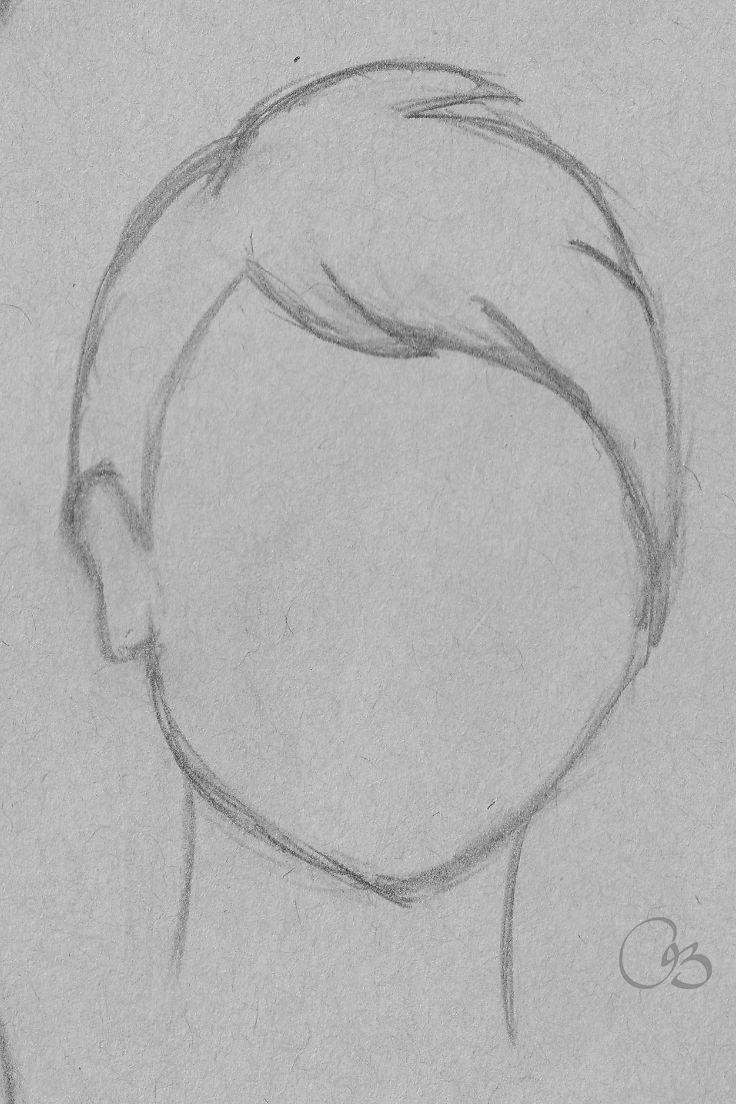 Super Short Hair Sketch Hair Sketch Easy Hair Drawings Art Drawings Simple