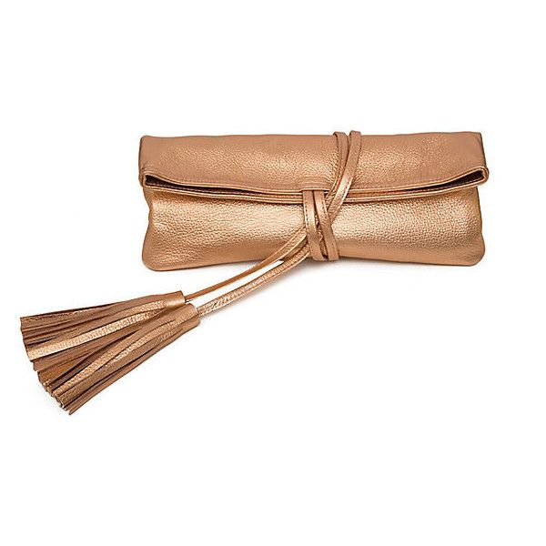 The Julian Clutch Rose Gold Clutches & Evening Bags (745 SAR) ❤ liked on Polyvore featuring bags, handbags, clutches, rose gold, rose gold clutches, evening hand bags, rose gold handbag, white evening bag and evening bags