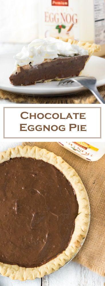 Chocolate Eggnog Pie Recipe https://ooh.li/197be8f #sponsored #ItsTheCows