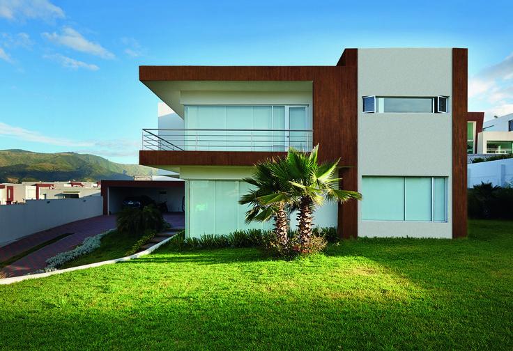 House decorated with Klondike Corten