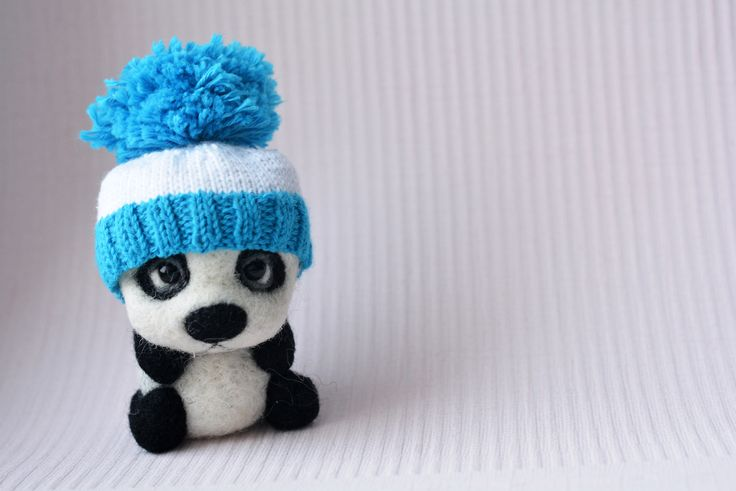 Panda wool, handmade