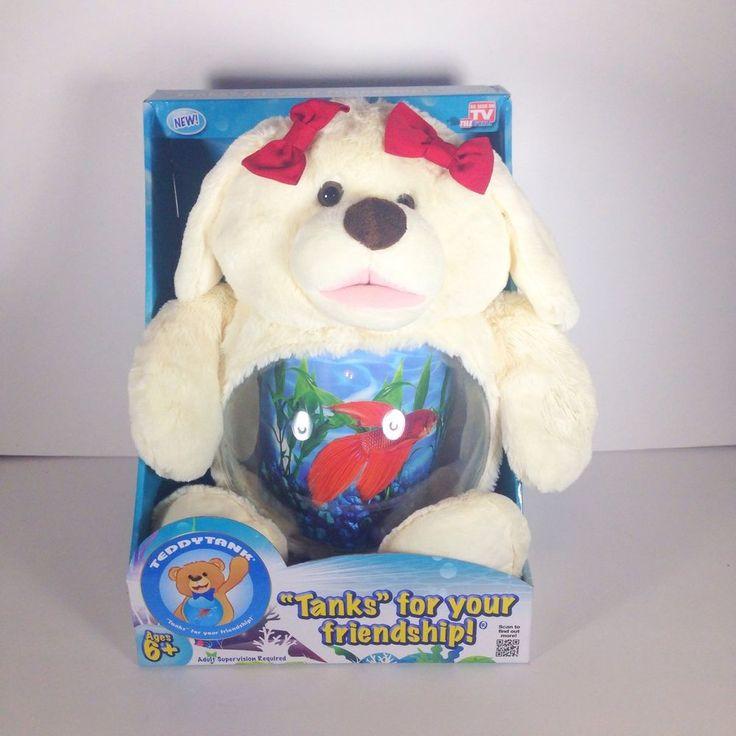 Teddy tank cute doggie plush fish bowl treasure jar as for As seen on tv fish tank