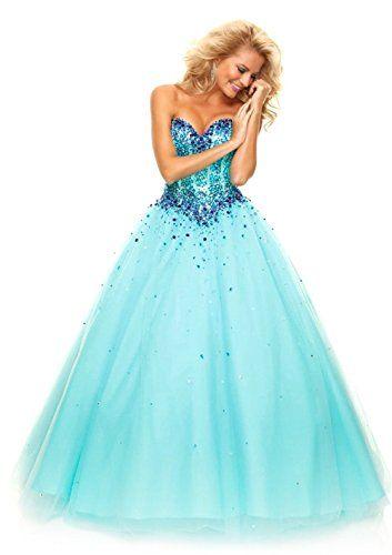 Bluue Poofy Prom Dresses