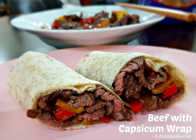 We are the DinoFamily 我們是恐龍家族 | Singapore Parenting Blog: Beef with Capsicum Wrap
