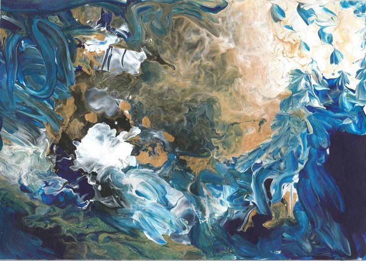 MOANA TE TUPUHI // Storm Print // A2 size // by TheMHTM // Abstract art
