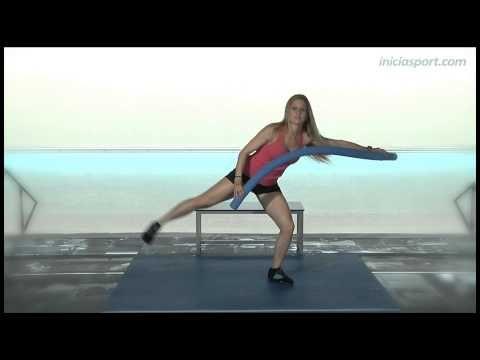 Ejercicios de piernas en el agua - YouTube