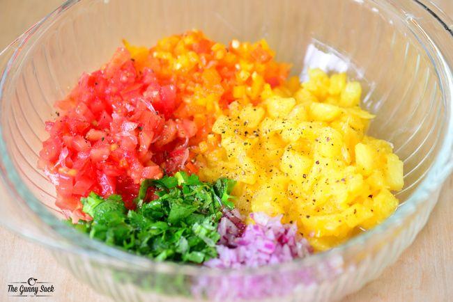 Homemade Pineapple Salsa   thegunnysack.com