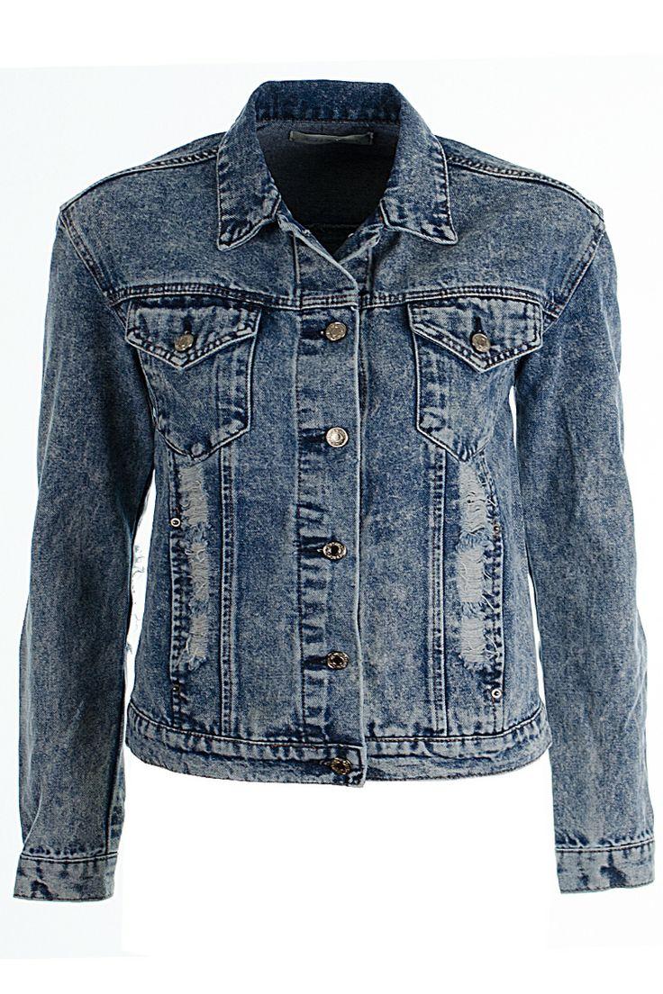 Ritta Super Rip Acid Wash Demin Jacket http://www.fuchia.co.uk/products/clothing/coats-and-jackets/ritta-super-rip-acid-wash-demin-jacket.aspx
