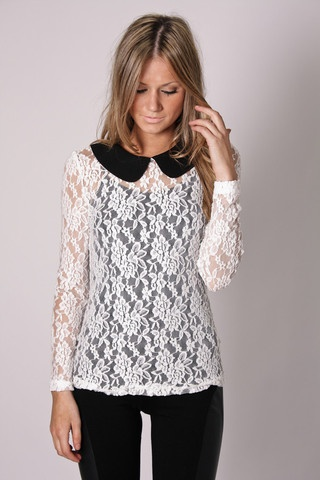 charmer lace top // esther boutque