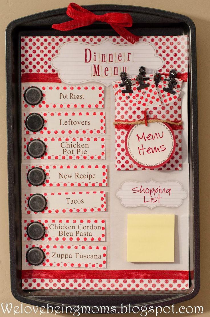 We Love Being Moms!: Printable Dinner Menu