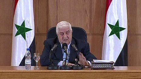 Syria crisis: Foreign minister denies chemical attacks