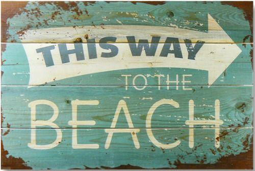 Beach This Way Arrow Wood Sign: http://www.completely-coastal.com/2016/07/beach-house-decor-joss-main-Jessie-James-Decker.html