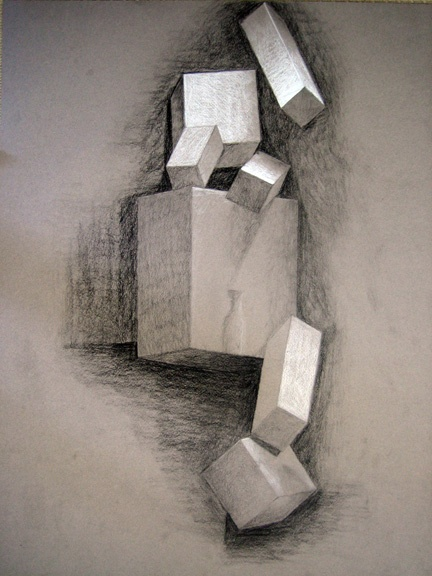 Charcoal drawing on Canson paper