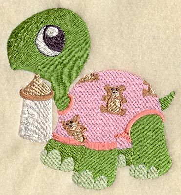 Free Machine Embroidery Quilt Patterns | Machine Embroidery Designs at Embroidery Library! - Baby Turtle in ...