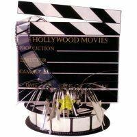 oscar table centerpieces | HOLLYWOOD OSCAR PARTY DECORATIONS TABLE CENTERPIECE DIRECTORS BOARD ...