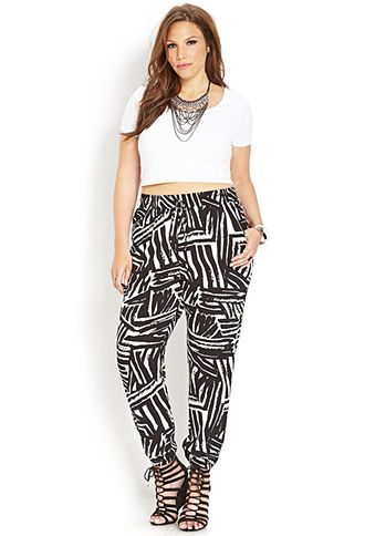 Whimsical Woven Pants | FOREVER21 PLUS - 2000124209