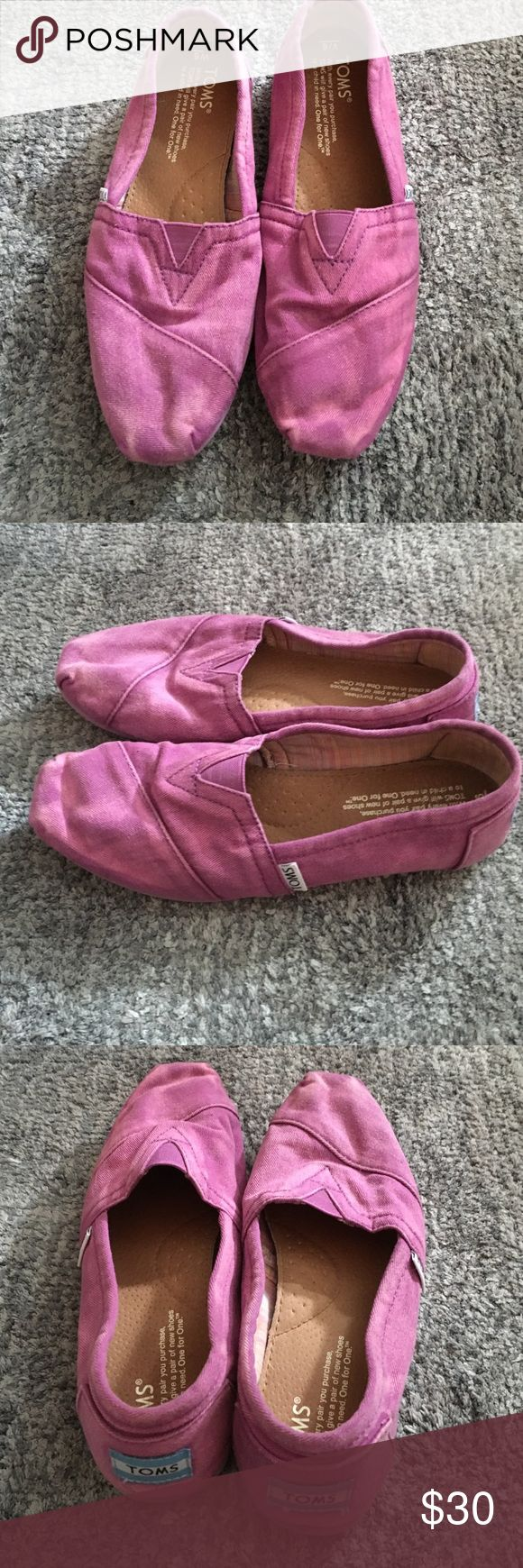 Toms flats purple vintage washed Toms. only worn once or twice. in great condition. size 6 TOMS Shoes Flats & Loafers