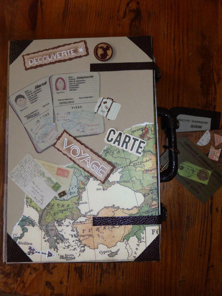 Urne,valise personnalisée pour fêter les 50 ans d\u0027un couple d\u0027amoureux
