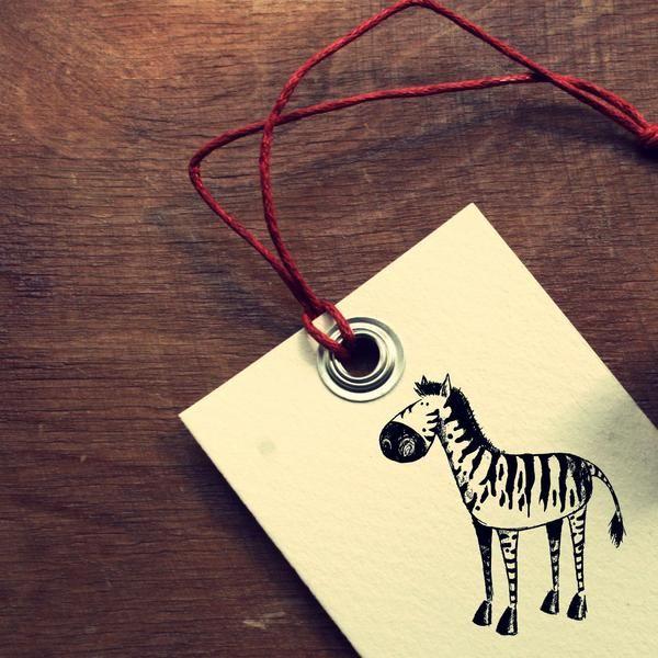 """Tiere - Stempel """"Zebra""""  - ein Designerstück von diemitdemwurmtanzt bei DaWanda"""