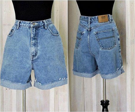 899b5dea1c Mom Jeans Shorts / Vintage 80s / high waisted denim shorts / size 8 / 9 /  30