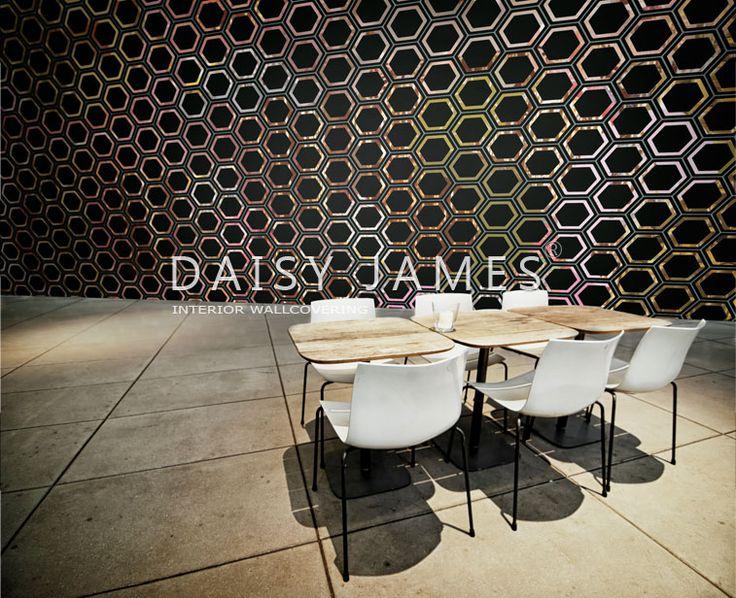 """DAISY JAMES  #interiordesign #wallcovering #design """"The Hexagon"""""""