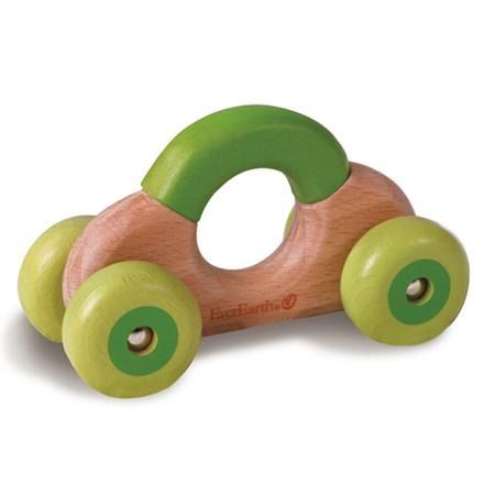 EverEarth Roll Along Baby Car This car shaped wooden clacking Rattle Toy from eco-friendly EverEarth features four whirly wheels. Baby will be encouraged to run the rattle along surfaces and shake the wheels to hear sounds – all will nurture your infant's intellectual and development skills. Also doubles as a teether, grasper and sound-maker.  Made from solid wood source from renewable forests Non toxic, water based paints and stains Suitable for children birth upwards Length: 11 x 6 x…