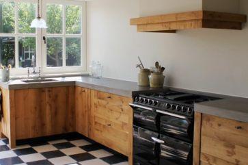 Betonnen keuken met hout. Pin voor de Libelle Moodboard keukenwedstrijd #libelle @Libelle