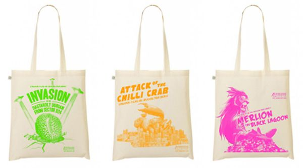 Vancouver Singapore Film Festival 2013 totebags by DoodleRoom
