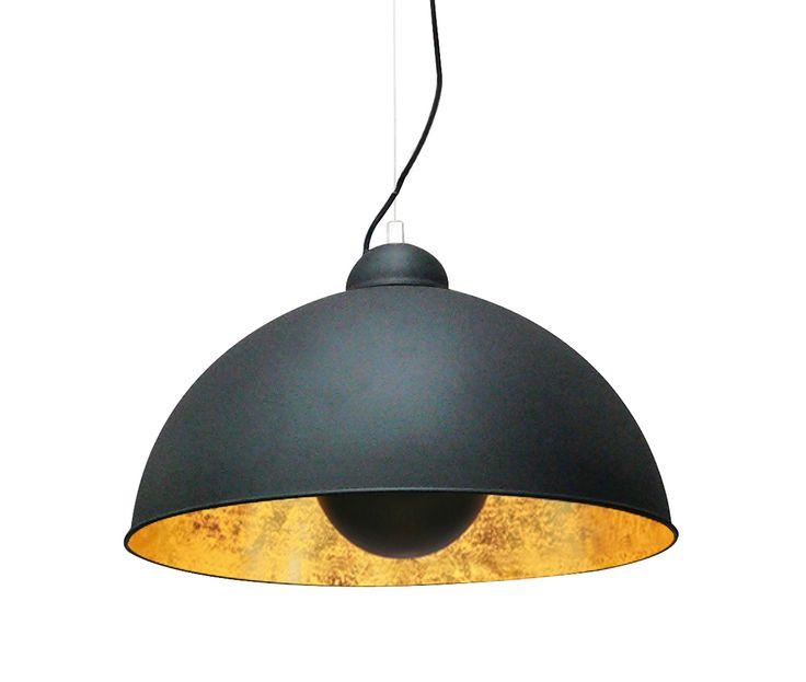 Propozycja lampy do gabinetu. Klosz od środka wygląda prawie jak miedź.