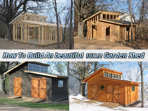 How To Build An beautiful 18×12 Garden Shed Read HERE --- > www.livinggreenan...