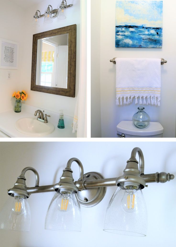 A few new accessories and fresh paint make a big difference when it comes to updating your bathroom. Learn how Burlap and Blue gave her master bathroom a bright, stylish mini-makeover on a budget.