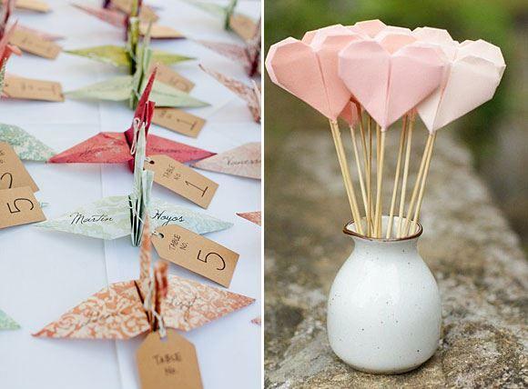 origami decoratie bruiloft