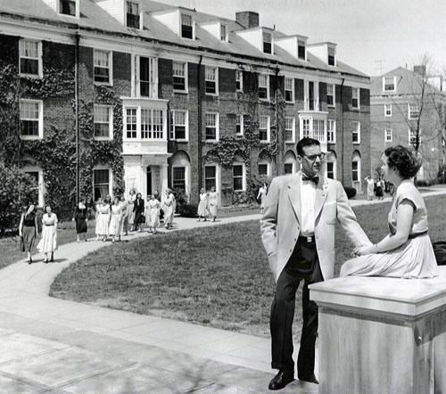 Old-fashioned love on East Quad, Denison University