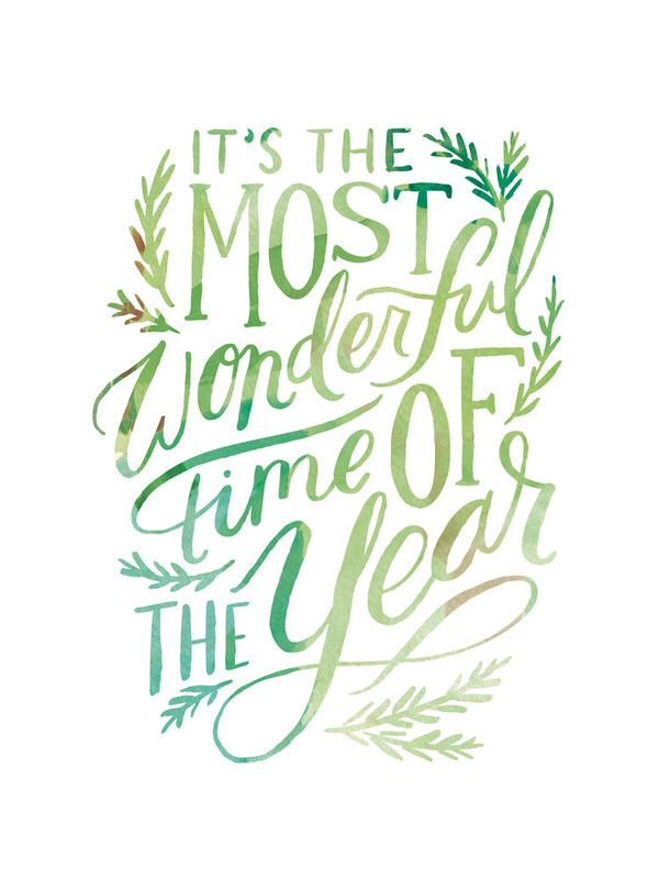 Spread a little holiday cheer with a Christmas inspired wall art print from Minted. It's the most wonderful time of the year typography art