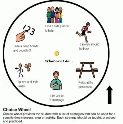 Strategy Wheel for bullying