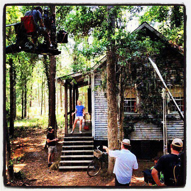 Julianne Hough filming SAFE HAVEN