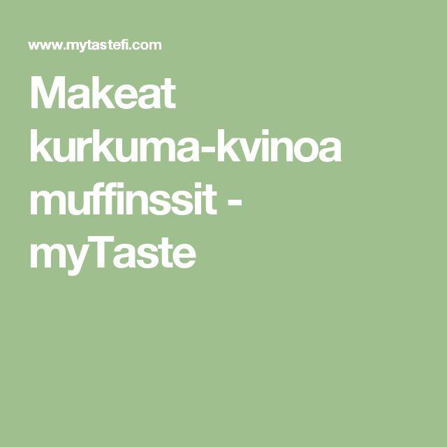 Makeat kurkuma-kvinoa muffinssit - myTaste