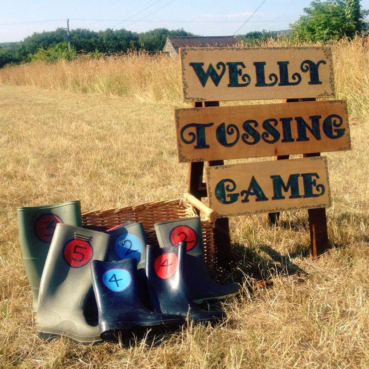 The old traditional welly wanging! great fun for all ages.
