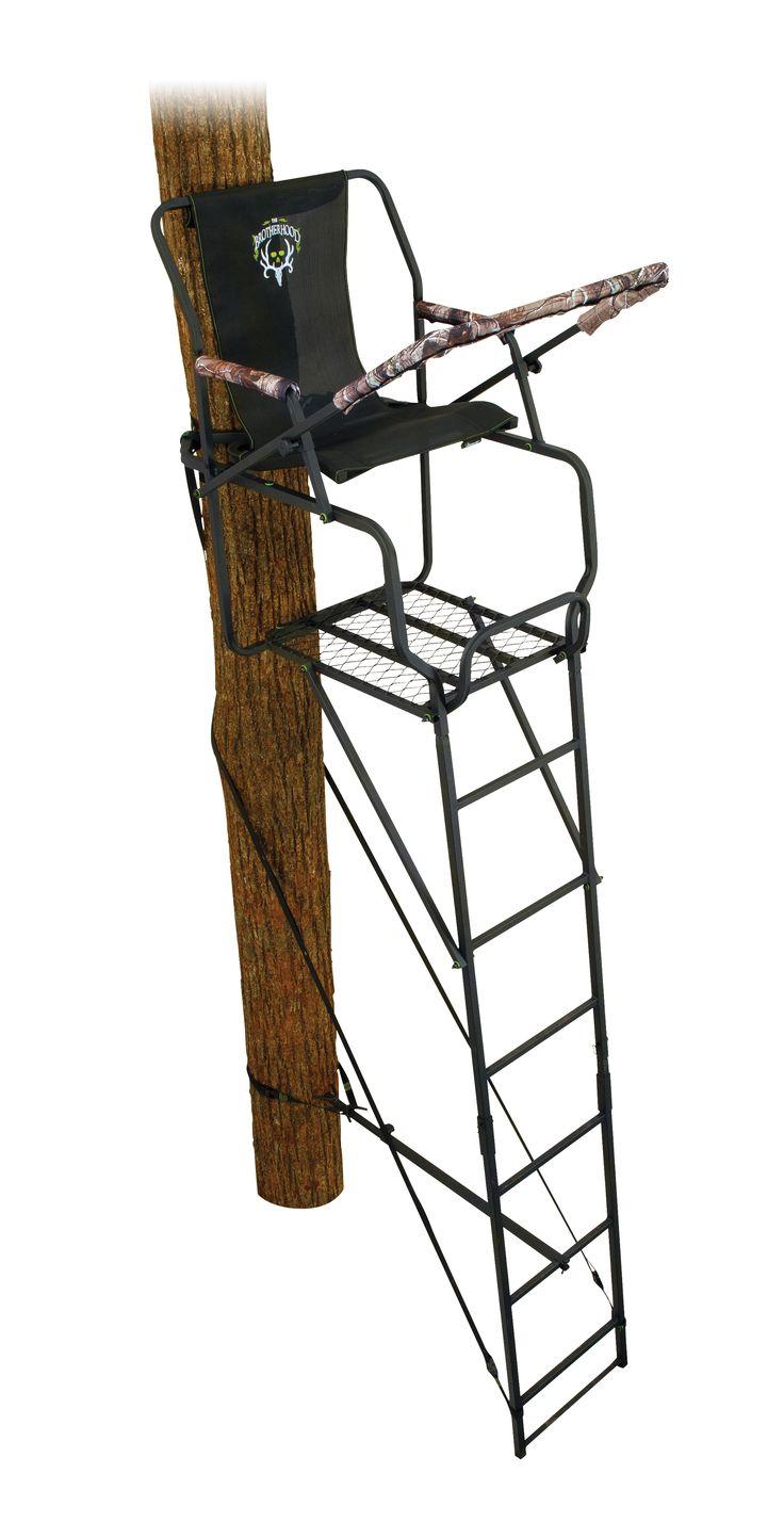 Ameristep 18 39 brotherhood deluxe hang on 9703 hunting for Ladder deer stands