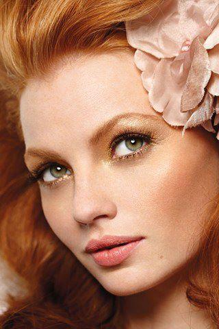 strawberry blonde ginger, like Rosemary More